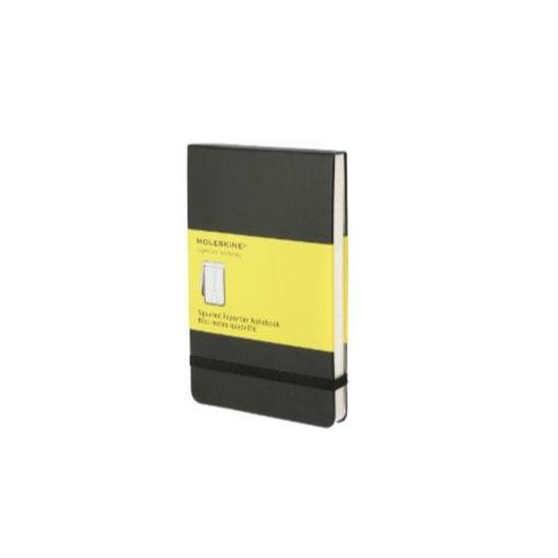 Picture of Moleskine Reporter Squared Notebook; Hardcover Pocket Size - Black