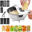 9 in 1 Multi-functional Magic Rotate Vegetable Cutter With Drain Basket Online Shopping