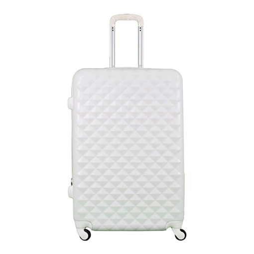 Morano 6686 Trolley Travel Bags Set With Beauty Case White - 4 Pieces Online Shopping