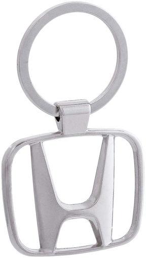 Zinc Alloy Metal Honda Emblem Keychain, Silver Online Shopping