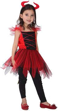 Picture of Girl's Devil Costume, Red, Medium