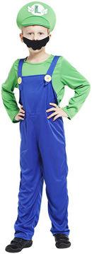 Picture of Boy's Mario Kart Costume, Green ,Medium