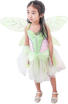 Picture of Girl's Tinker Bell Costume, Green, Medium