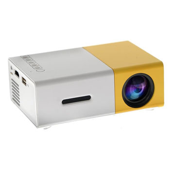 Picture of Led Projector 1080P Home Media Player With Remote Control - Yellow