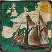 A Ship in a Map Metal Plate Tin Sign Online Shopping