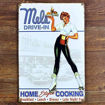 Mels Drive-In Sexy Girl Tin Sign Metal Plaque Online Shopping