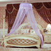 Picture of Round Lace Curtain Dome Bed Canopy Netting Princess Mosquito Net, Purple