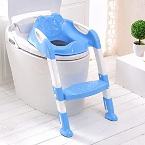 Picture of Foldable Children Potty Seat With Ladder Cover Pp Toilet Adjustable