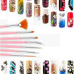 Picture of 15 Pieces Nail Art Brushes Dotting Drawing Brushes Nail Pen Designer