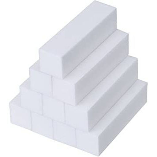 Picture of Mudder 10 Pack White Buffer Sanding Block Files Grit Manicure Nail
