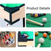Picture of 31-Inch Indoor Mini Tabletop Pool Table Set With 1 Triangle, 16 Balls