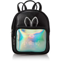 Picture of Rabbit Ears Holographic School Backpack for Kids, Black