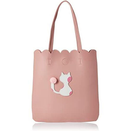 Picture of Cat Design Tote Bag Pink