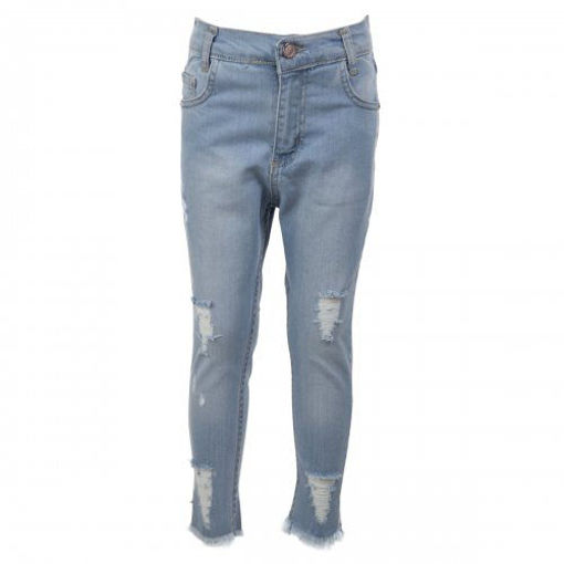 Picture of Mutlu Zip Fly with Frayed Grazers Denim Girl's Jeans