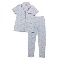 Picture of Joanna Button Down All Over Mail Prints Women's Pajama Set