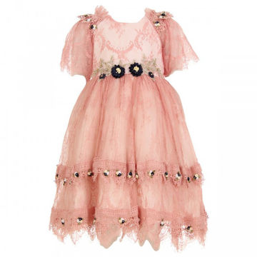 Picture of Princess Party Classic Style Girl's Party Dress with Flower Patches