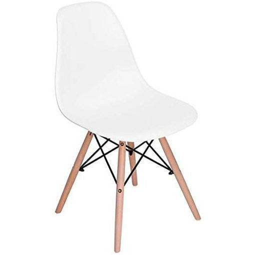 Picture of Vogue Vogue Rico V1 Dining Chairs Set White- 4 Pieces