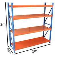 Picture of Medium Duty Metal Warehouse 4 Steps Racking Storage Garage Shelving