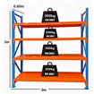 Medium Duty Metal Warehouse 4 Steps Racking Storage Garage Shelving Online Shopping