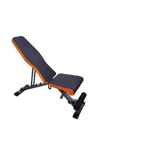 Sky Land Multi-function Adjustable Weight Bench, EM-1853, Orange & Black Online Shopping