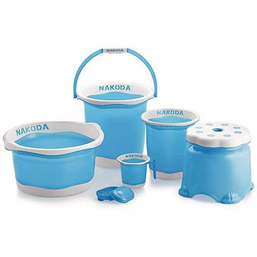 Plastic Nakoda Pixel Bathroom 6 Pc Set Colored Bathroom Accessories Online Shopping