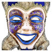 Daweigao Carnival Happy Face Mask - B2, Gold And Blue Online Shopping