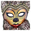 Daweigao Carnival Cat Face Mask - B378, Gold And Brown Online Shopping