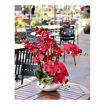 Picture of Yatai Silk Artificial Orchid Flowers In Ceramic Vase, Red