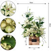 Picture of Yatai Artificial Potted Poinsettia Flowers, White