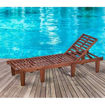Picture of Yatai Acacia Wood Sun Lounger with Cushion