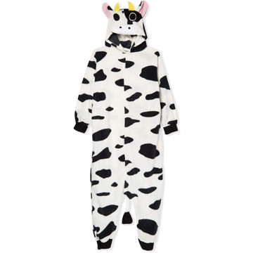 Picture of Cow Onesie Costume, White, M