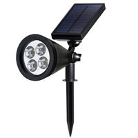 Picture of Beauenty Upgraded Solar Lights 2-In-1 Waterproof Outdoor Spotlight