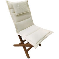 Picture of Teak Wood Portable Chair With Cushion, Beige