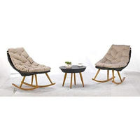 Picture of CFC Rattan Outdoor Wicker Garden Rocking Chair Set