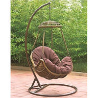 Picture of CFC Rattan Garden Hammock Swing Chair, Brown