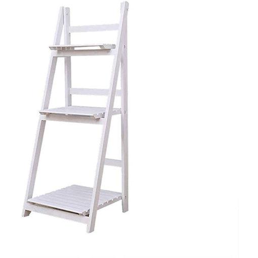 Folding Plant Stand 3 Tier Shelf, White Online Shopping