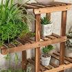 Wooden Indoor Flower Rack 5 Shelves, Brown Online Shopping