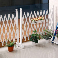 Picture of Ling Wei Telescopic Anti-Corrosion Outdoor Wooden Fence, White