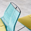 Neo Front Braided Rope Chair, Blue & Yellow, 54x83x64cm Online Shopping