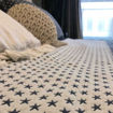 Picture of Neo Front Pure Cotton Star Print Bedsheet, 210x240cm