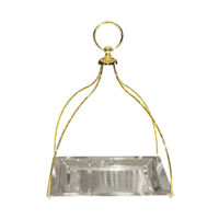 Picture of Stainless Steel Serving Tray, Silver & Gold