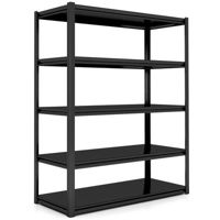 Picture of Takako 5 Tier Bolt Free Metal Shelf 120x50x200cm With Metal Frame Gray & White