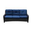 Outdoor Garden Rattan 5 Seater Sofa Set, Blue Online Shopping