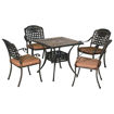 Outdoor Garden Square Shaped Dining Table, Copper Brown Online Shopping