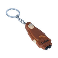 Picture of Wooden Key Chain With Cute Wooden Arab Female Cartoon