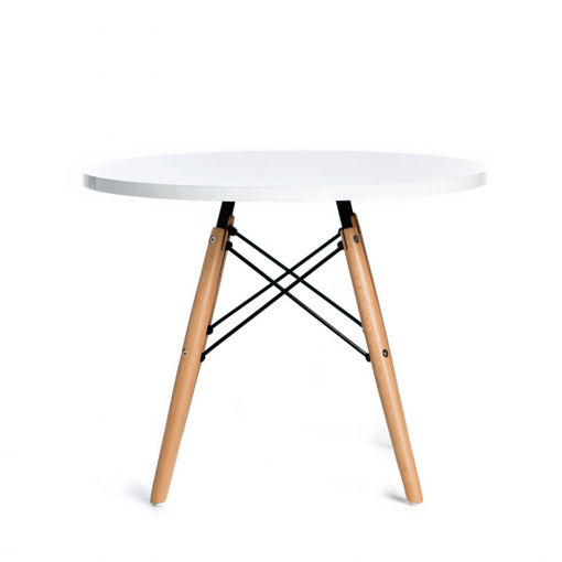 Eames Model Ashwood Coffee Study Table - White, 60cm Online Shopping