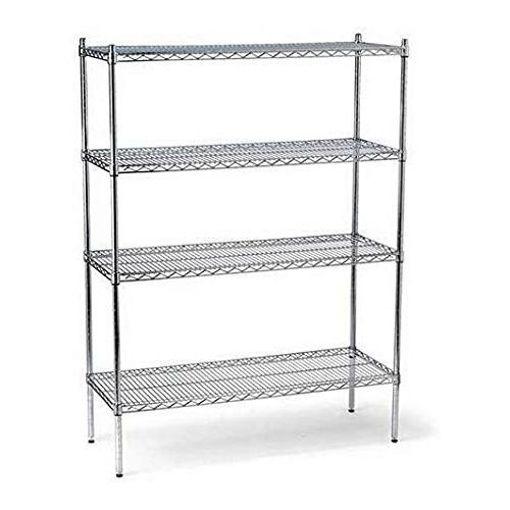 ZL 4 Tier Adjustable Chrome Wire Shelving Storage Shelves - 90 x 45 x 160cm Online Shopping