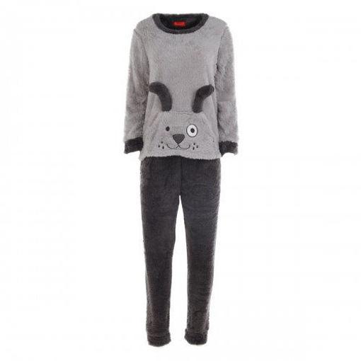 Joanna Rabbit Theme Plush Pajama Set with Bedroom Shoes Online Shopping
