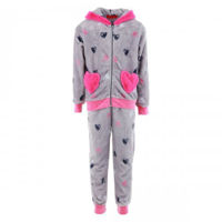 Picture of Joanna Heart Hoodie Printed Girl's Pajama Set