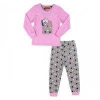 Picture of Joanna Long Sleeves Bear and Polka Dots Print Girl's Pajama Set